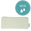 Washable Paper Mini Bag Zig Zag Green