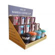 DISPLAY FOR BAMBOO CUPS