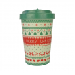BAMBOO CUP MERRY CHRISTMAS GREEN