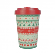 BAMBOO CUP MERRY CHRISTMAS RED