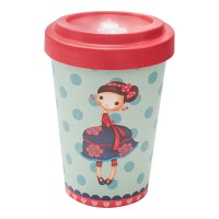BAMBOO CUP SYBILE CHERRIES RED