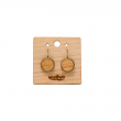 DROP EARRINGS BEIGE