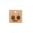 DROP EARRINGS CHOCO